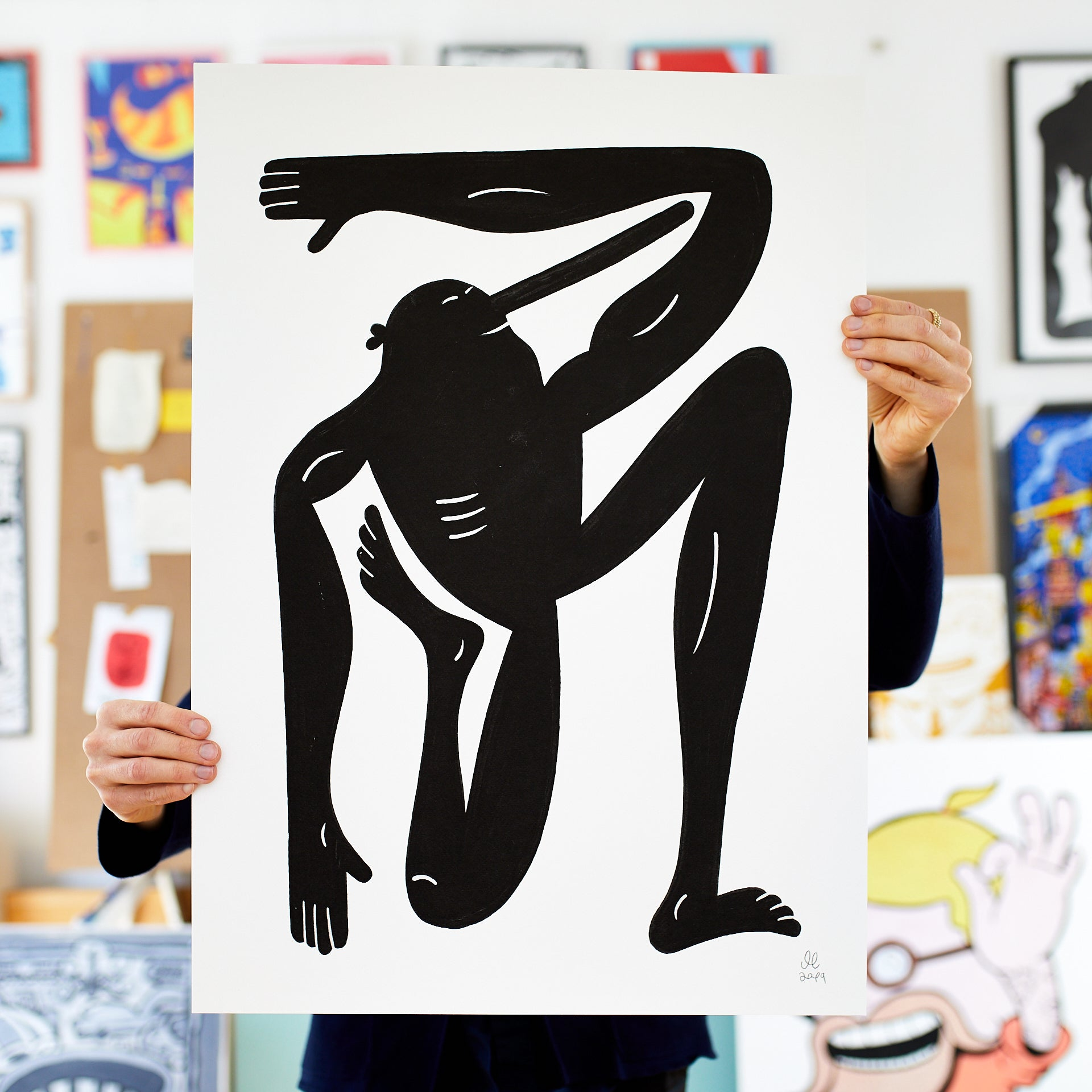 Image of   Black Yoga - 50 x 70 cm