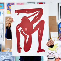 Big Red Yoga - 50 x 70 cm