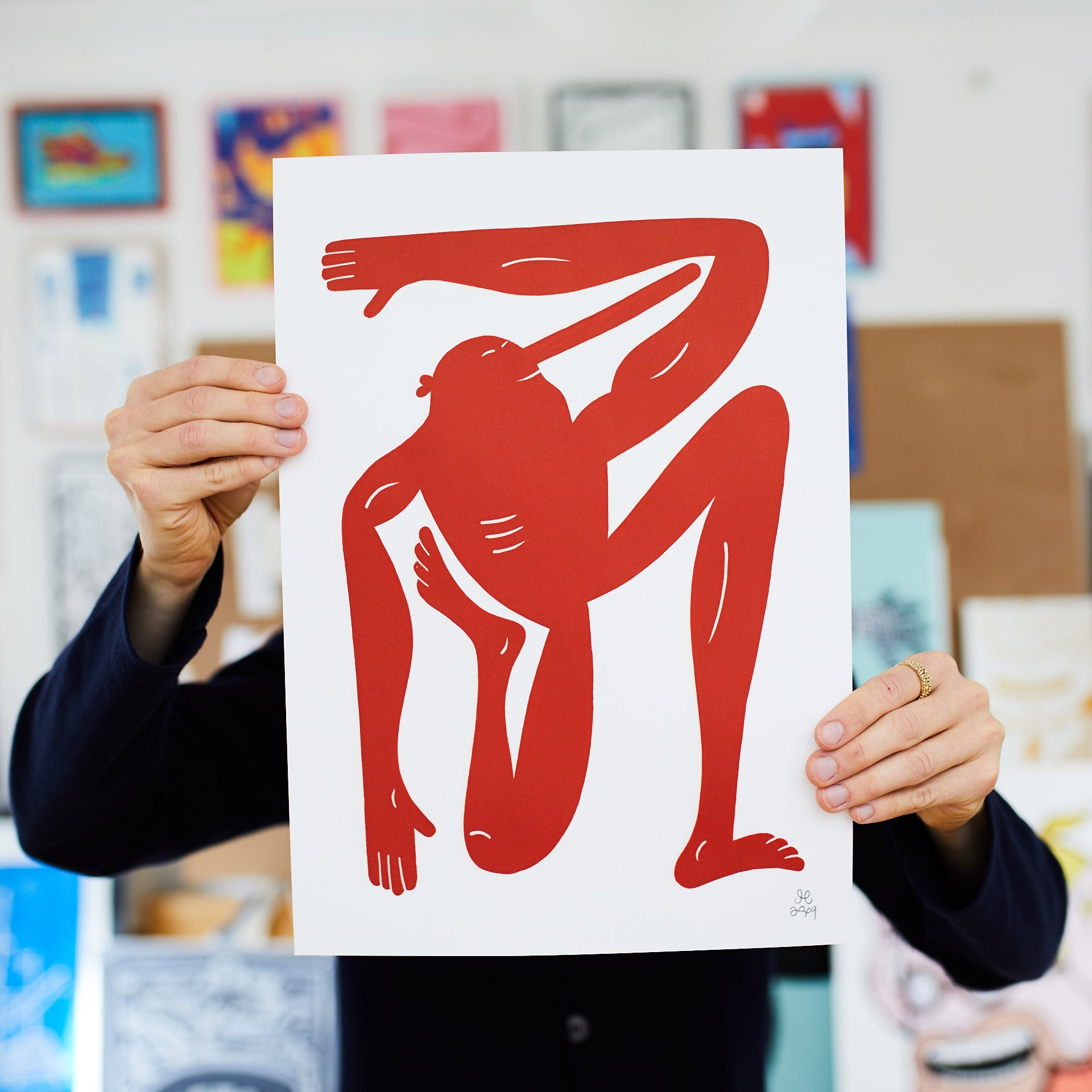 Image of   Red Yoga - A3 size