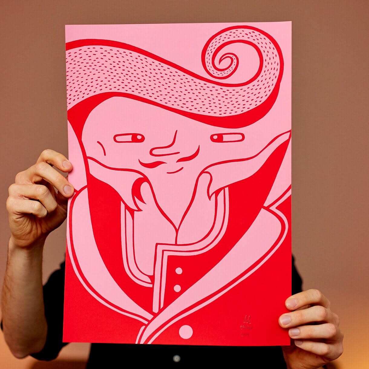 Image of   Red Gentleman - A3 size