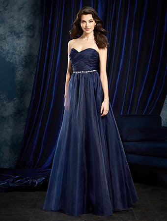 Alfred Angelo 8107L - Size 10 Navy