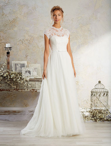 Alfred Angelo Modern Vintage Bridal Gown 8570 - Size 12 White