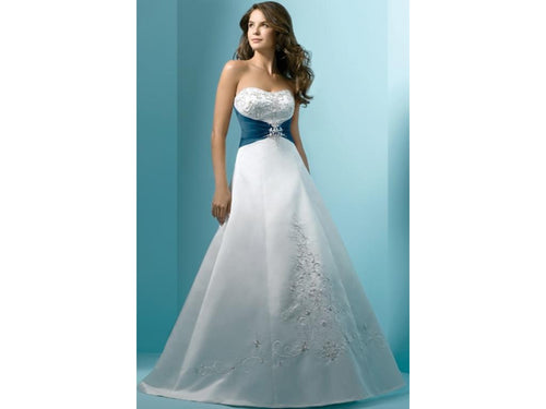 Alfred Angelo  1139 Wedding Dress - Size 12 White/Black - Satin