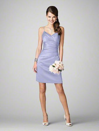 Alfred Angelo 7199S - Size 10 Periwinkle - Spaghetti Strap Short Dress