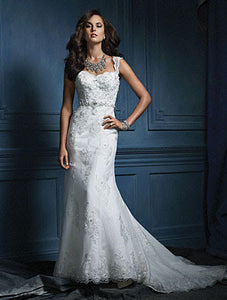 Alfred Angelo Sapphire Bridal Gown 854 - Size 10 White