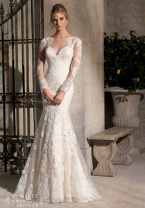 Mori Lee Bridal Gown 2725 - Size 8 Ivory
