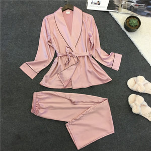 Voplidia Robe Sexy Bathrobe Women 2017 Pajamas Set New Summer Lace Nightgown Set Sleepwear Pajamas Pijama Feminino Pyjama VOP006