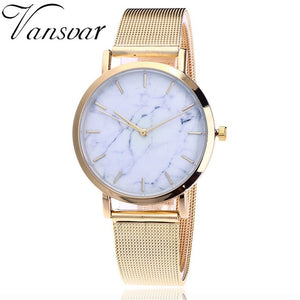 Fashion Mesh Band, Marble Women's Watch