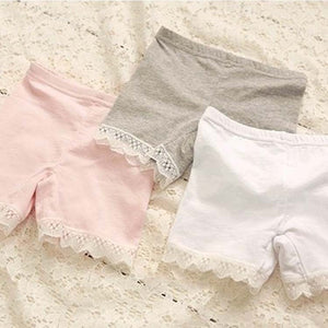 Girls Shorts - Lace Trim - Great for under dresses!