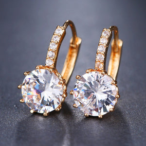 EMMAYA Fashion 10 Colors AAA CZ Element Stud Earrings For Women Wholesale Chea Factory Price