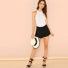 White Elegant Workwear Racer Back Marled Knit Mid Waist Skinny Halter Bodysuit Summer Women Weekend Casual Bodysuits