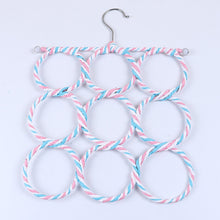 Holes Scarf Hanger Multi Scarves Display Hang Ties Belt Organize Circle Storage Holder Clothes hanger 1PC