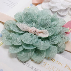 New Hair Accessories Girls Turban Headwear Baby Headband Bow Pearl Lace Hair Band Headband White Solid Lovely Band