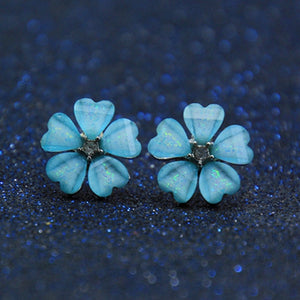 Korean Style Cute Flower Stud Earrings For Women 2018 New Fashion Sweet Earrings Femme Brinco Wholesale Jewelry