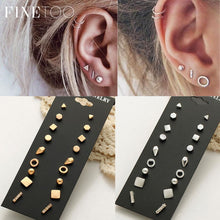 Mixed Small Earrings Set Simple Geometric Stud Earrings