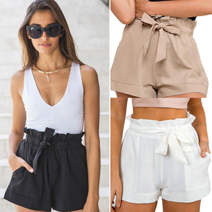 Women Sexy High Waist Crepe Hot  Summer Casual Mini Shorts