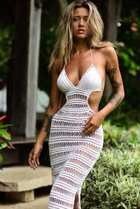 New Sexy Cover Up Bikini Women Swimsuit Cover-up Beach Bathing Suit Beach Wear Knitting Swimwear Mesh Beach Dress Tunic Robe