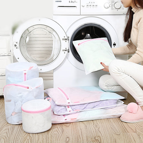 laundry bags for washing machines nylon mesh laundry basket for clothes bras socks foldable protecting laundry bag