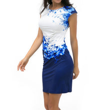 Summer Plus Size Women Dress Casual Sleeveless ONeck Print Slim Office Dress Sexy Mini Bodycon Party Dresses Vestido