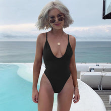 Striped Swimwear One Piece Swimsuit