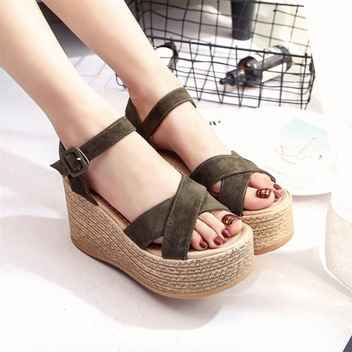 Summer Buckle Women's Sandals