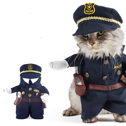 Policeman Costume for Cats and Small Doggys