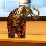 Tooarts Carved Iron Elephant