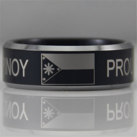 Proud Pinoy Comfort Fit Ring - 8MM Black