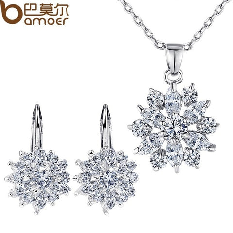 Luxury Gold Color Flower Jewelry
