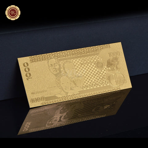 1000 Piso Gold Plated Philippines Banknote