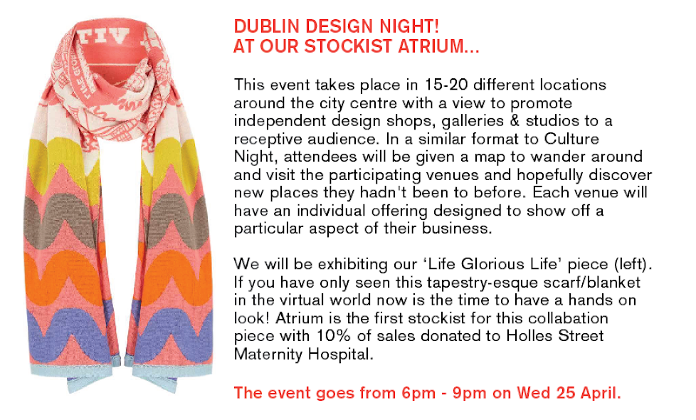 DUBLIN DESIGN NIGHT - 25 April 2018