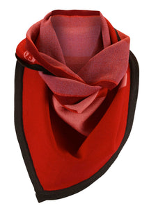 Abstract Triangle Scarf Red/Pink