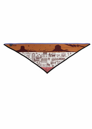 Mountain View Cowboy Town Triangle Scarf