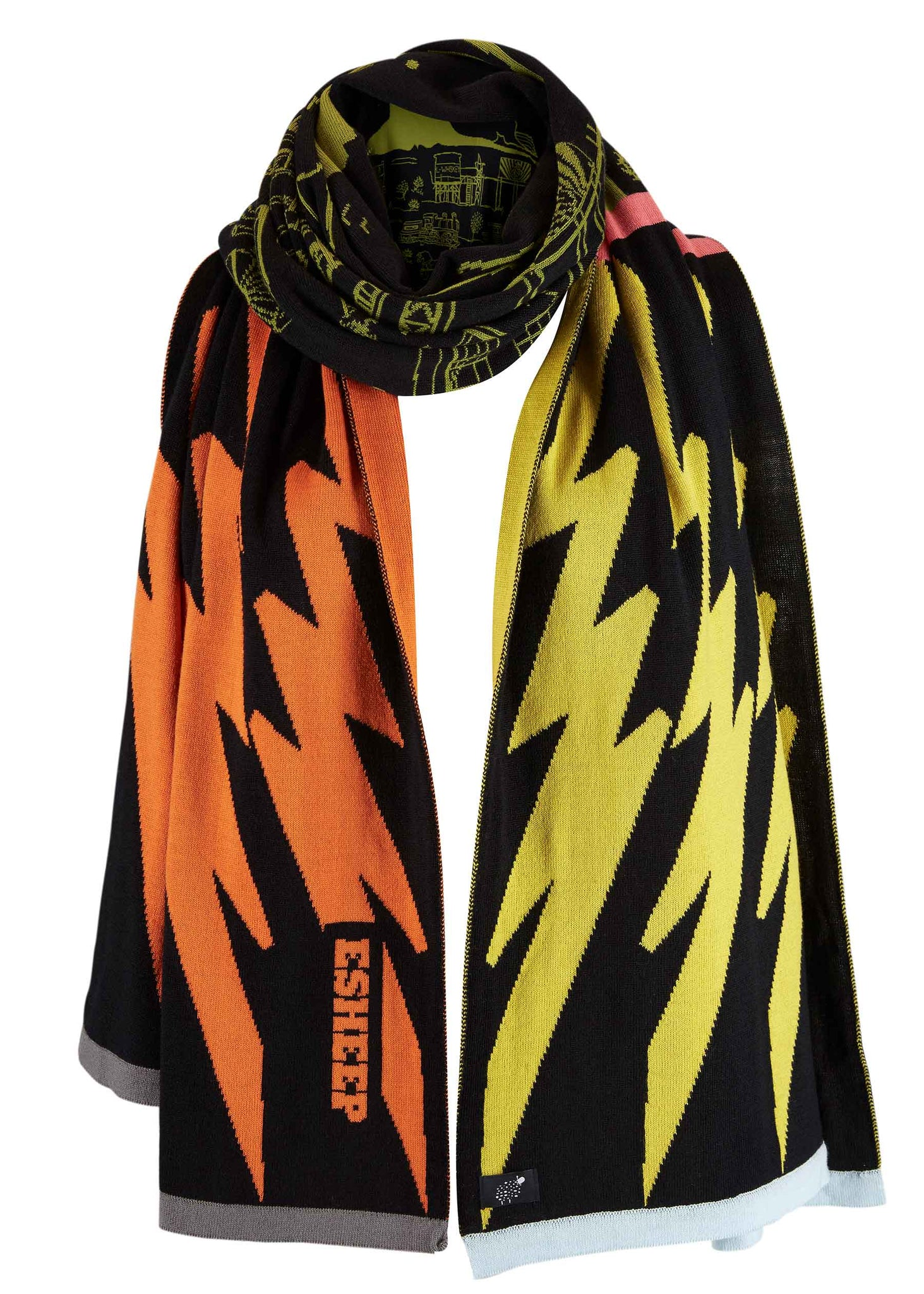 Mountain View Cowboy Town Blanket Scarf