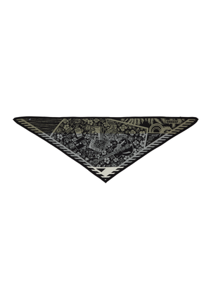 'ROCK N ROLL BED' TRIANGLE SCARF