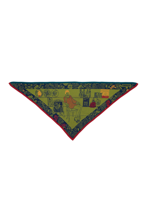 'Bella Vista – Portrait of Ludwina' TRIANGLE SCARF