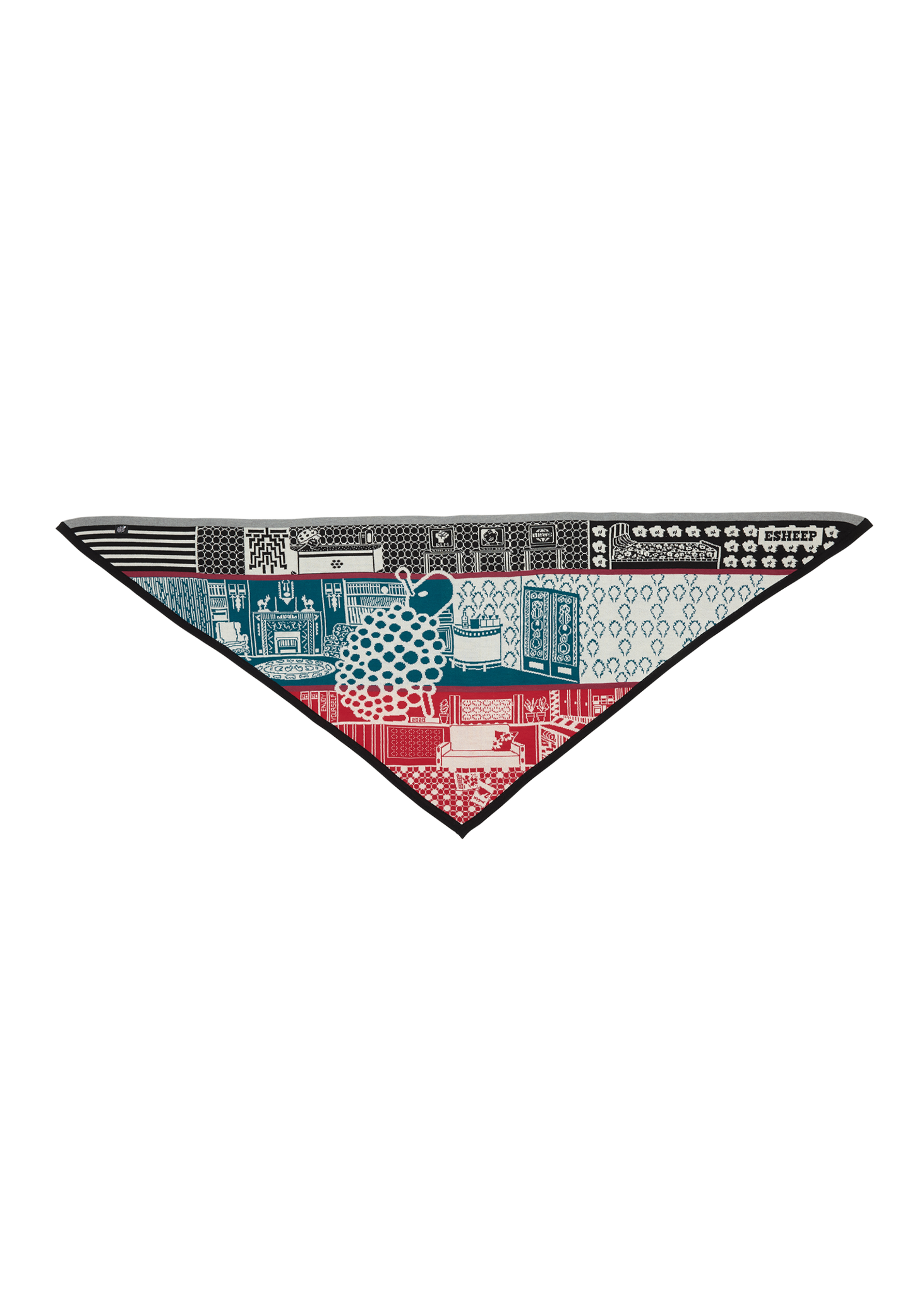 'ENJOY YOURSELF' OVERSIZED TRIANGLE SCARF