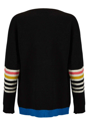 Ace-High Cowgirl Sweater Black/Multi Reverse