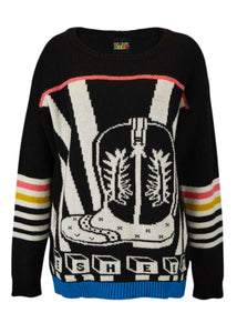 Ace-High Cowgirl Sweater Black/Multi
