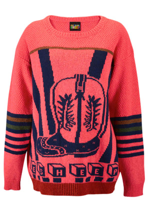 Ace-High Cowgirl Sweater Pink/Navy