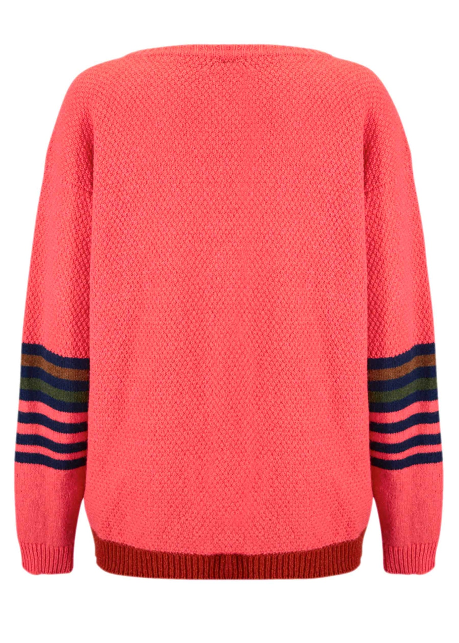 Ace-High Cowgirl Sweater Pink/Navy Reverse