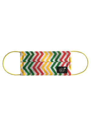 Kids 'Zigzag Rainbow' Cotton Face Mask by Electronic Sheep
