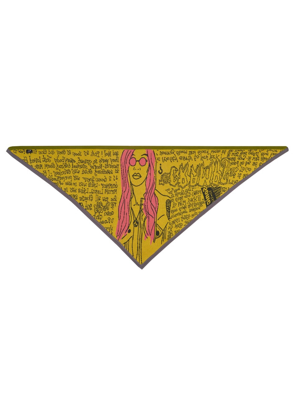SOLD OUT - Stone Age Zine Triangle Scarf {oversized}