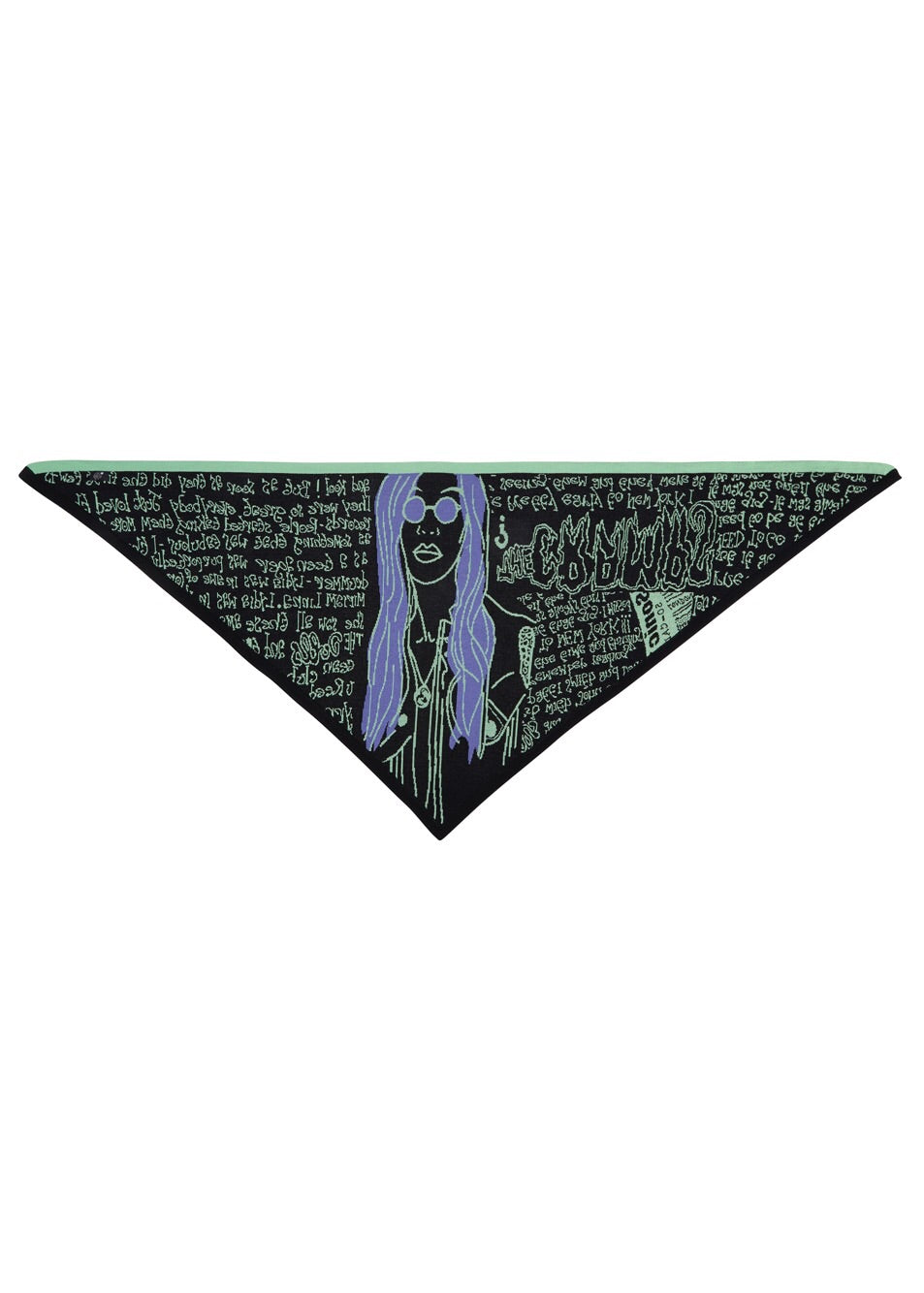 Back in stock - Stone Age Zine Triangle Scarf {oversized}
