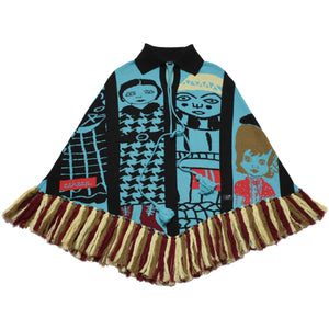Plastic Cowboys + Knitted Indians Fringed Poncho