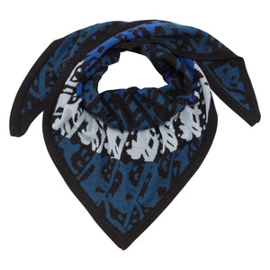 RAINING CATS AND DOGS TRIANGLE SCARF