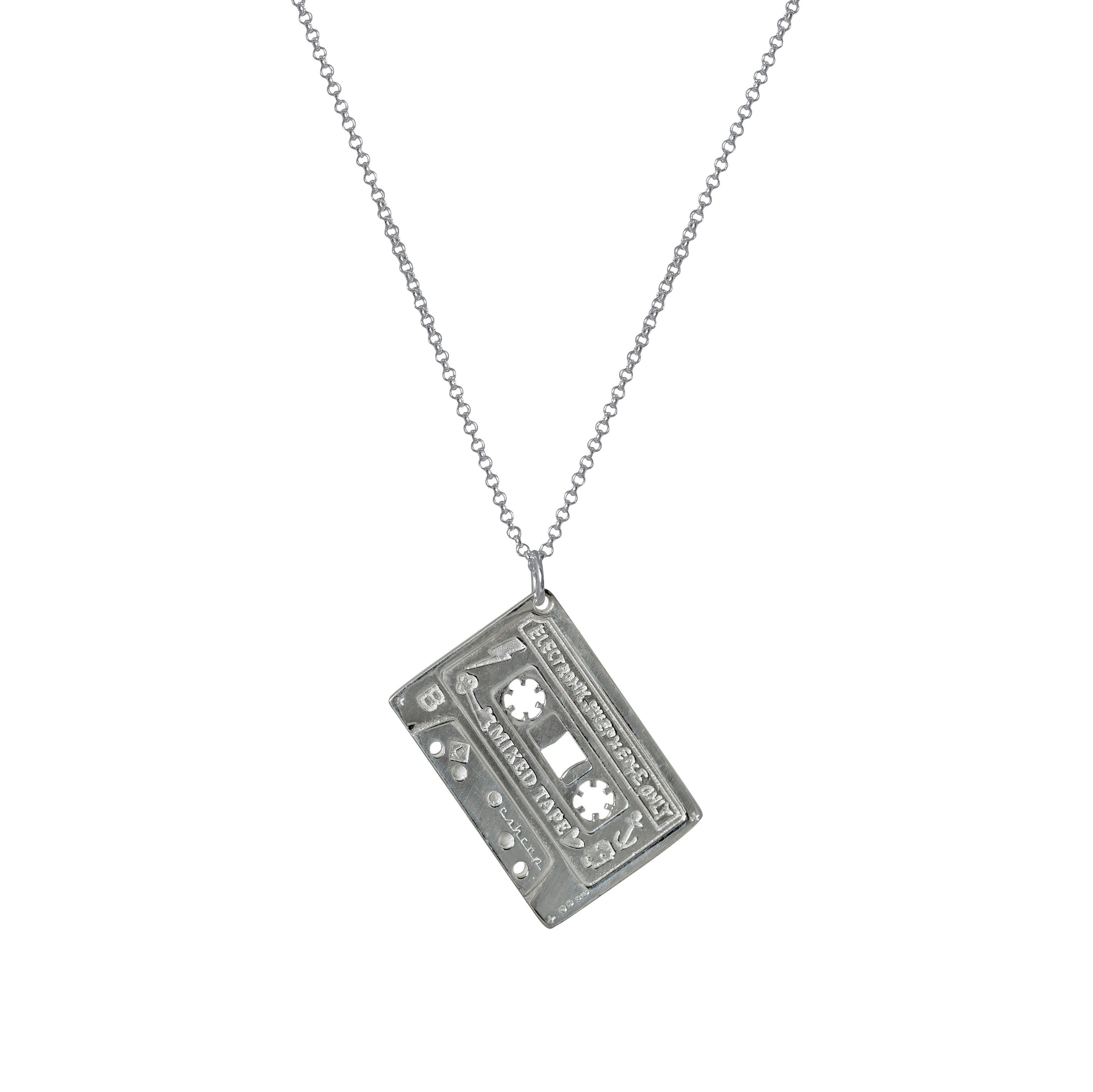 MIXED TAPE Electronic Sheep X Edge Only 'Mixed Tape' Pendant - Sterling Silver