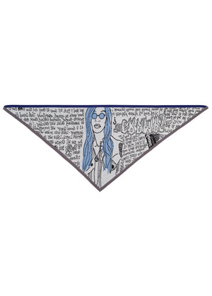 Limited Stock! - Stone Age Zine Triangle Scarf {oversized}