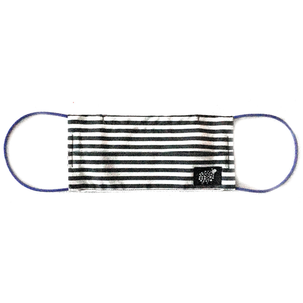 Womens 'Candy Stripe' Cotton Face Mask by Electronic Sheep
