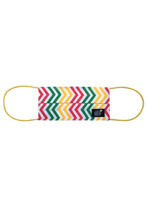 Mens 'Zigzag Rainbow' Cotton Face Mask by Electronic Sheep